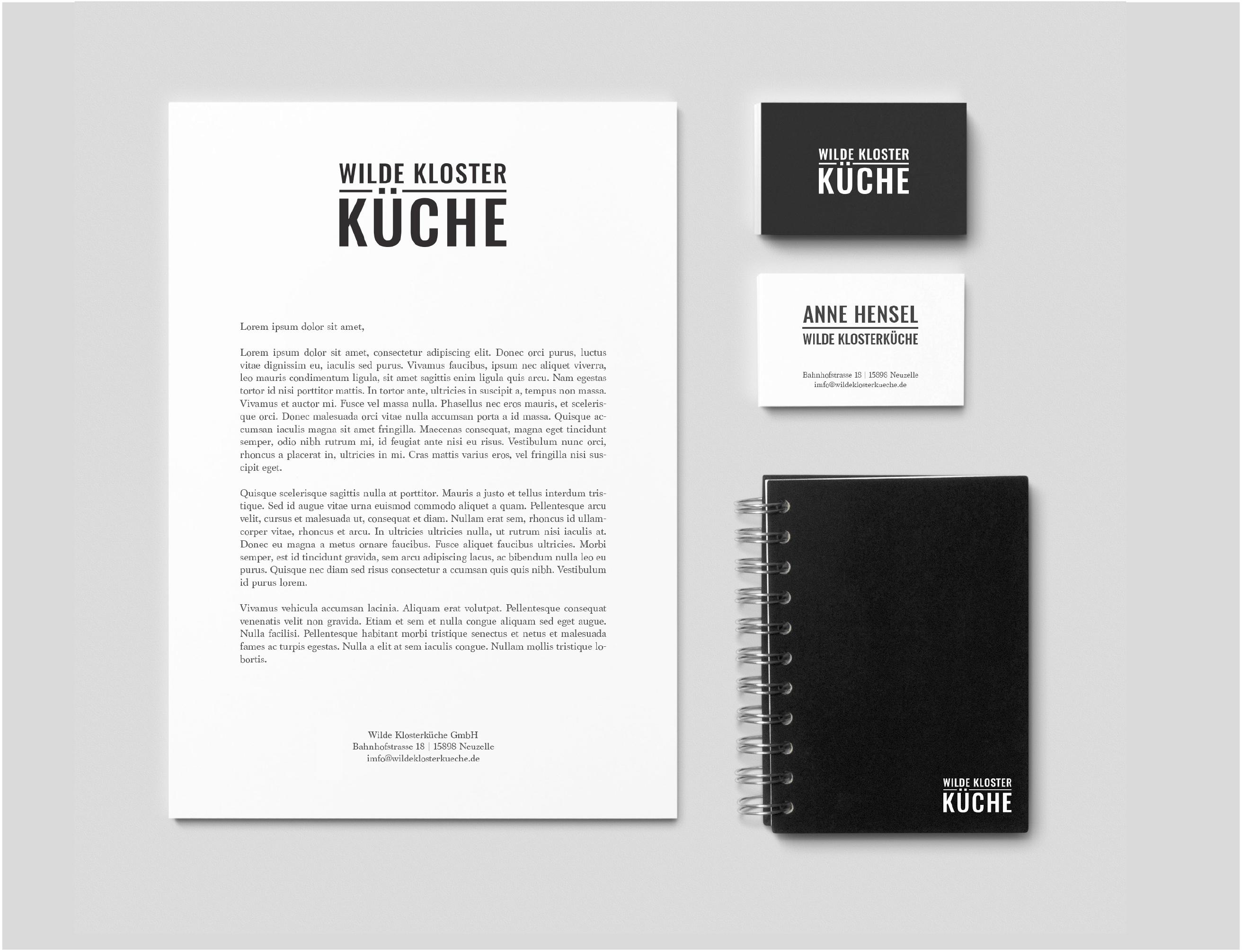 corporate identity   wilde klosterküche